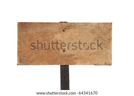Rustic blank wooden sign on a hiking trail high in the mountains above Southern California. - stock photo
