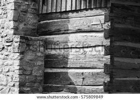 Chink stock images royalty free images vectors for Chinking log cabin