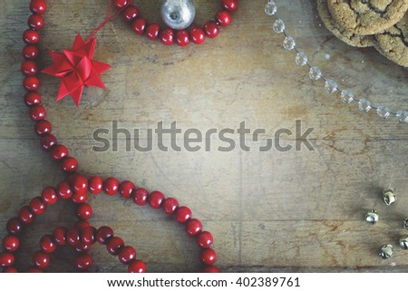 Rustic Christmas border/frame/background