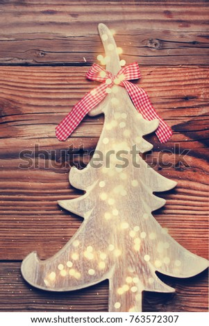 Rustic Country Christmas Background