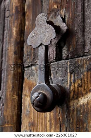 Rustic Door Handle  - stock photo