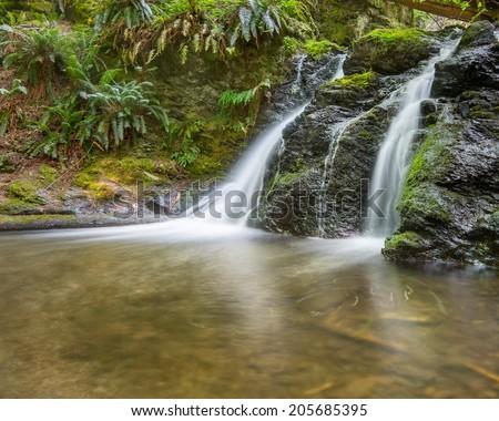 Rustic Falls, Moran State Park, Orcas Island, San Juan Islands, WA - stock photo