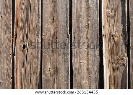 rustic gray fence close-up - stock photo