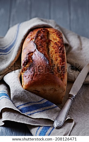 Rustic Loaf of Homemade Bread - stock photo