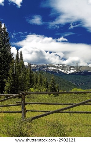 Rustic Mountain Landscape in Colorado