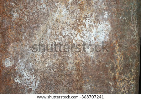 Rustic old metal background and rust texture - stock photo