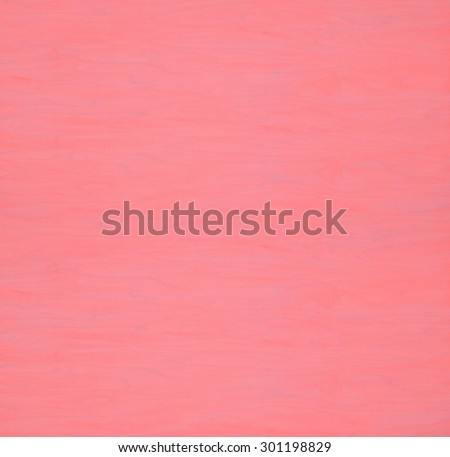 Rustic Painted Plain Pine Wood Board Background with Grain and Extra Space or Room for text, copy, your words or design. Square shape, can crop to horizontal or vertical.  Heathered Coral Red color. - stock photo