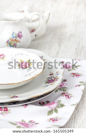 Rustic Plate, Bowl and Vase