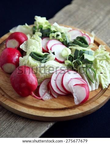 rustic radish - stock photo