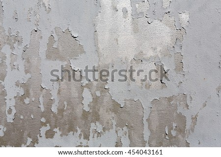 Rustic shabby painted metal texture abstract background. Weathered surface of gray iron damaged grunge wall with old paint spots. - stock photo