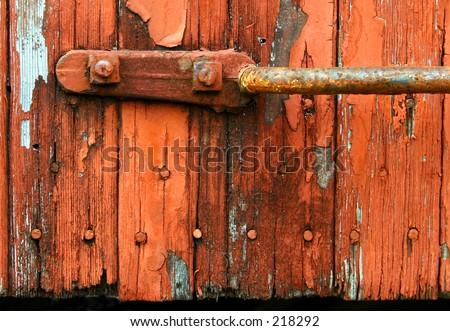 Rustic Siding Handle - stock photo