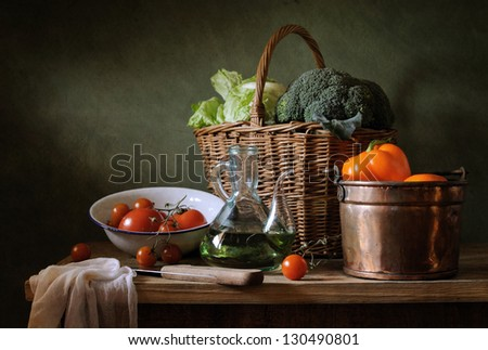 Rustic still life - stock photo