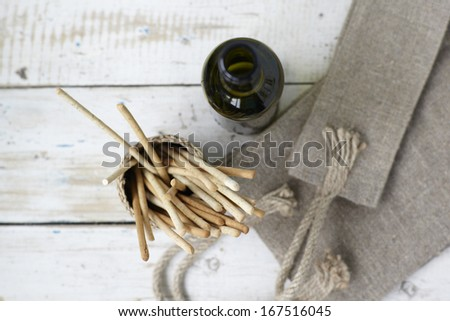 Rustic still life background - stock photo
