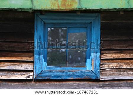 Rustic Window - stock photo