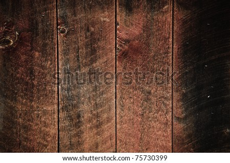 Rustic Wood Background Red and Black Brown - stock photo