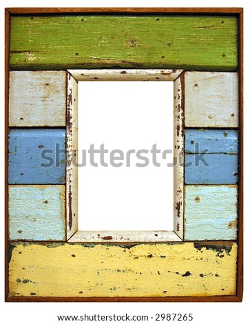 Rustic Wood Frame - stock photo