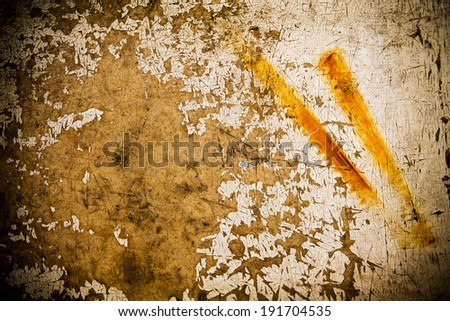 Rustic wooden background with old worn paint on it. - stock photo