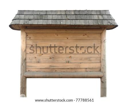 rustic wooden billboard - stock photo