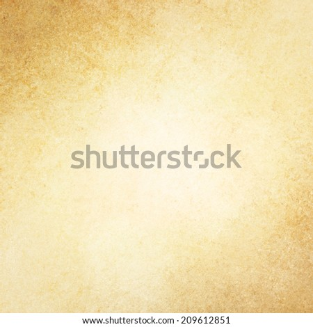 rustic yellow grunge background with brown grungy border and vintage texture design - stock photo