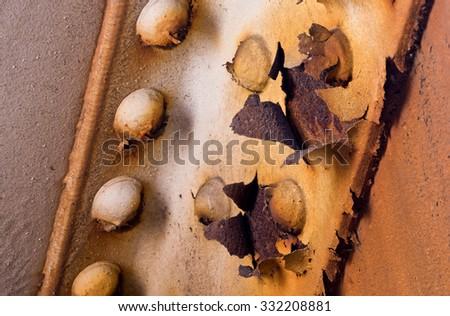 Rusting, Crumbling Infrastructure Steel Girders - stock photo