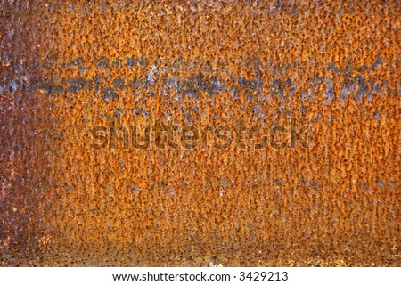 Rusting metal plate texture - stock photo
