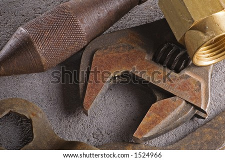 Rusting tools - stock photo