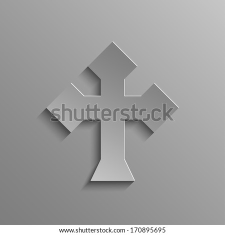 Rustrakehner Color cross on a gray background - stock photo