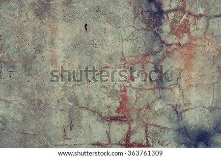 Rusty aged colored vivid concrete texture background.