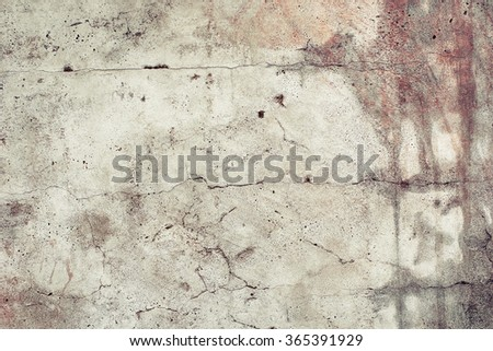 Rusty aged faded concrete texture background. Vintage effect. - stock photo
