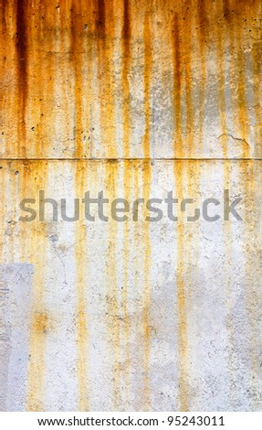 Rusty and grungy dripping texture background - stock photo