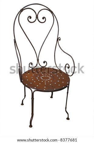 Rusty Antique Chair - stock photo