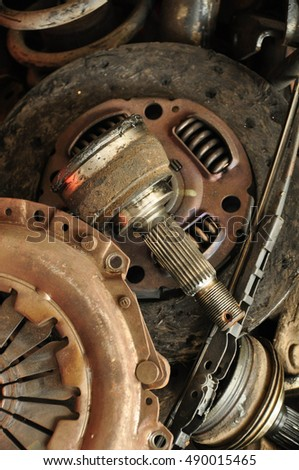 rusty auto parts background