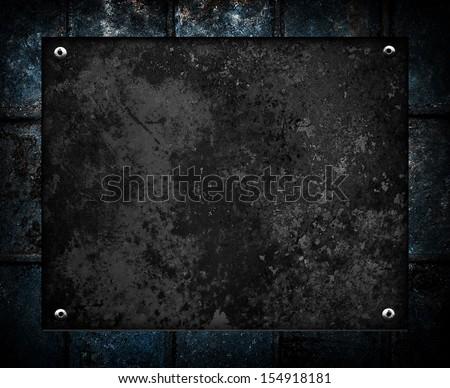 rusty black metal - stock photo