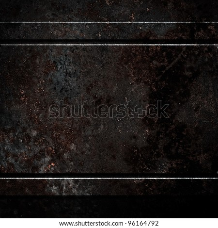 rusty black metal - stock photo