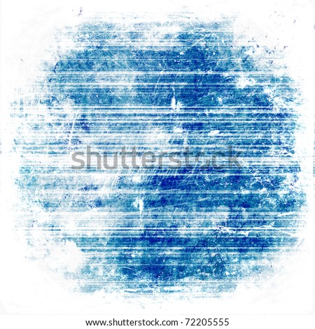 rusty blue striped grunge background - stock photo