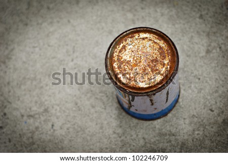 Rusty Can Background - stock photo