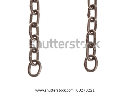 Rusty chain isolated on white