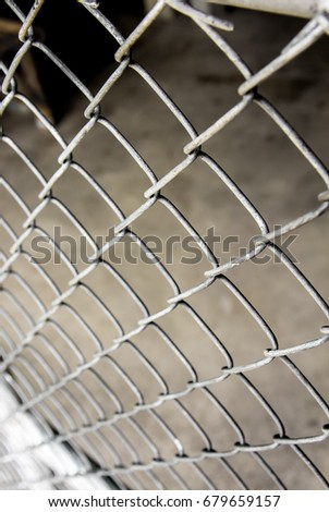 Rusty Chain Link Wire Mesh Fence Stock Photo Royalty Free