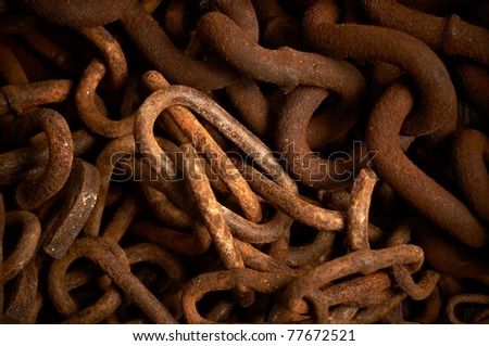 Rusty chains texture - stock photo