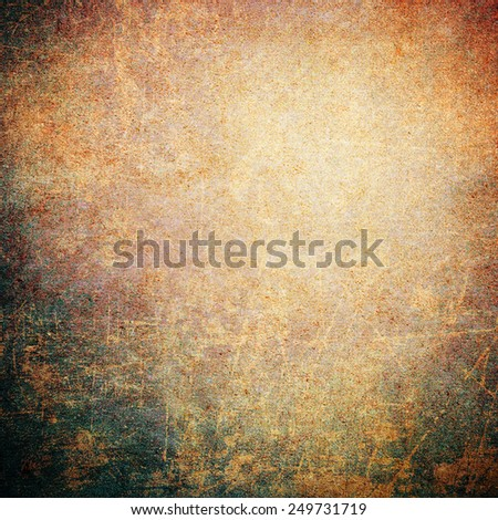 Rusty colorful grunge concrete wall background - stock photo