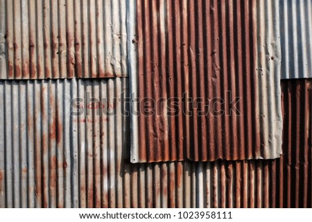 steel wall texture. Rusty Corrugated Galvanize Steel Wall Texture Background