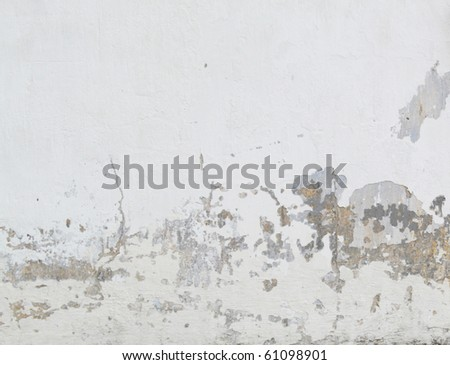 rusty cracked concrete vintage wall background - stock photo