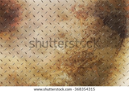 Rusty  diamond plating background