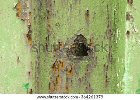 Rusty door - stock photo