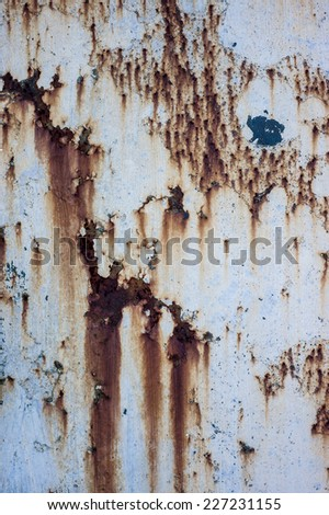 Rusty exterior wall texture - stock photo