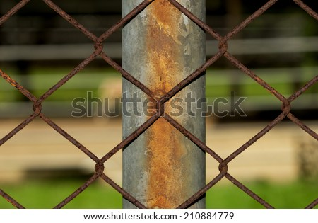 Rusty Fence Wire around The Place