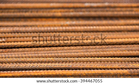 Rusty ferro concrete construction steel building armature as background  - stock photo