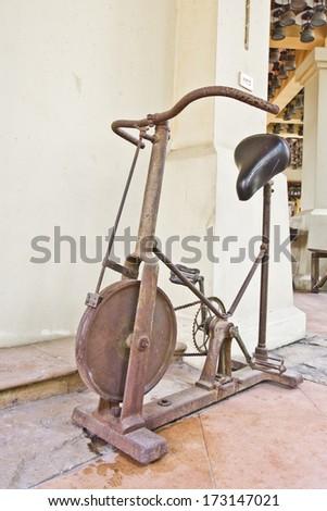 Rusty fitness equipment - stock photo