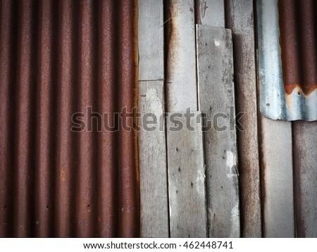 Corrugated Iron Wood Stock Photos Royalty Free Images