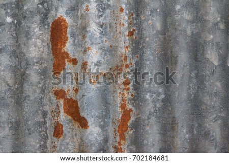 Rusty galvanized iron sheets background pattern